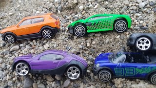Looking for cars under sand - toys for kids Video for Kids