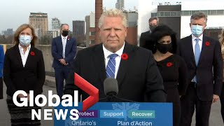 """Ontario premier doug ford announced on friday that ottawa would be moving to """"orange restrict"""" level of the province's new covid-19 system and peel region wi..."""