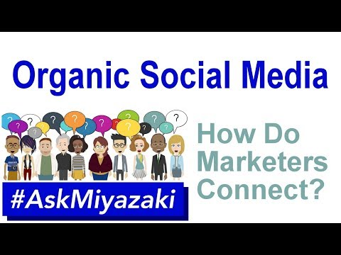 #AskMiyazaki 007: Organic Social Media, Desensitization, & Connecting (Social Media Marketing)