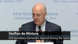 UN special envoy underscores need to keep up momentum 'on the political track' for Syria