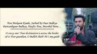 Gambar cover Bulleya Reprise   Arijit Singh & Shilpa Rao   Ae Dil Hai Mushkil   Lyrical full Video
