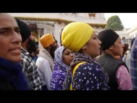 The life at the Golden Temple in Amritsar India