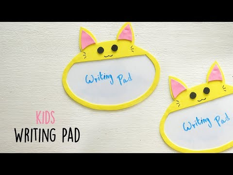 DIY Reusable Writing Pad   Kids Craft   Do It Yourself
