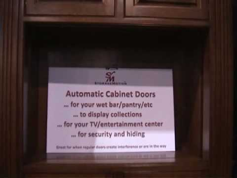 Automated Cabinet Doors Motorized Doors That Move Vertically Youtube
