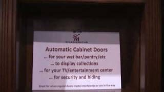 Automated Cabinet Doors ; Motorized Doors That Move Vertically