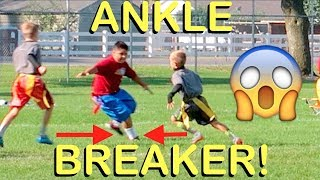 🏈KID ANKLE BREAKS BIGGEST KID AT FOOTBALL GAME SCORES TOUCHDOWN!