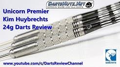 Unicorn 2017 Kim Huybrechts Premier 24g darts reveiw with Icon case