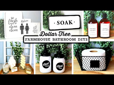 DOLLAR TREE DIY FARMHOUSE BATHROOM DECOR