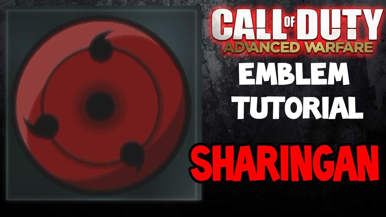 Naruto SHARINGAN COD Advanced Warfare Emblem Tutorial