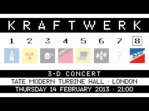 Kraftwerk - Tate Modern Turbine Hall, London, 2013-02-14