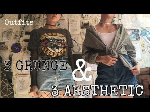 TUMBLR OUTFITS (3 grunge & 3 aesthetic outfits ) // @annnlenn 1