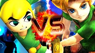 TOON LINK vs YOUNG LINK RAP BATTLE │ Zach Boucher (ft. ShueTube)