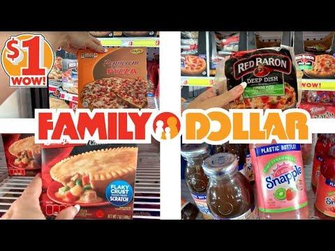FAMILY DOLLAR SHOPPING!!! $1 GROCERIES + SNACKS!!! *EAT CHEAP*