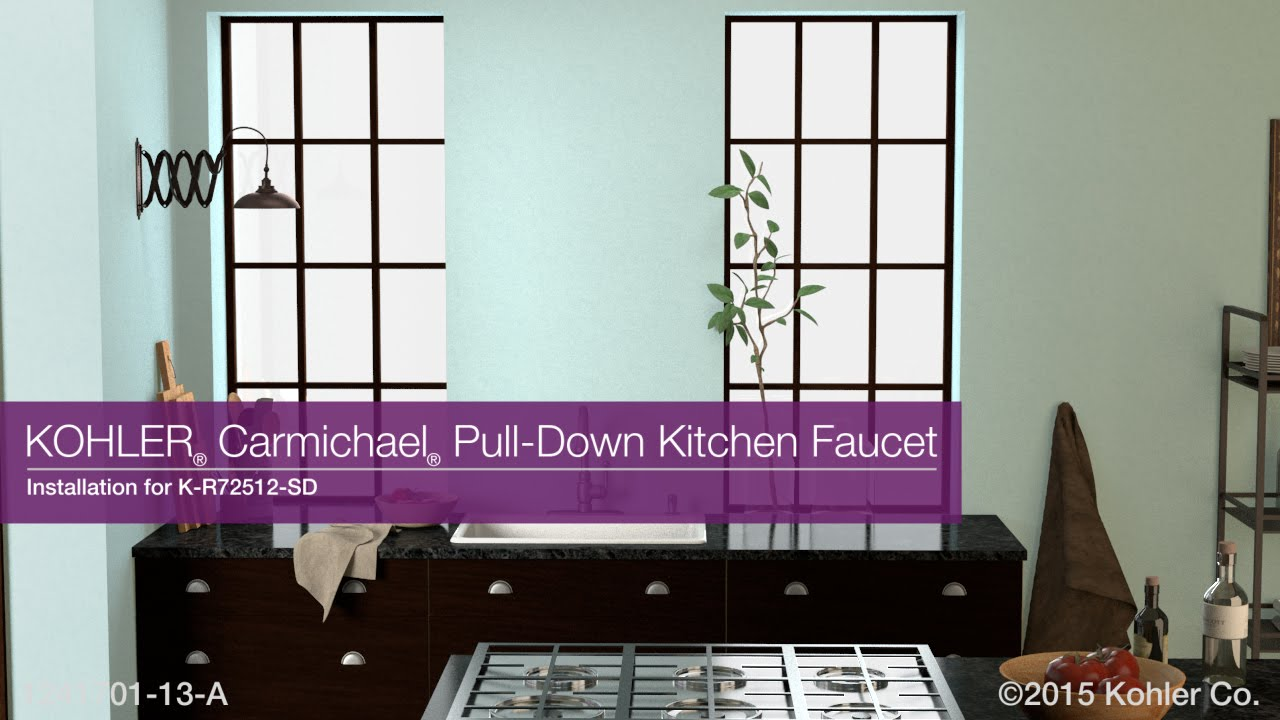 Installation - Carmichael Pull-Down Kitchen Faucet - YouTube