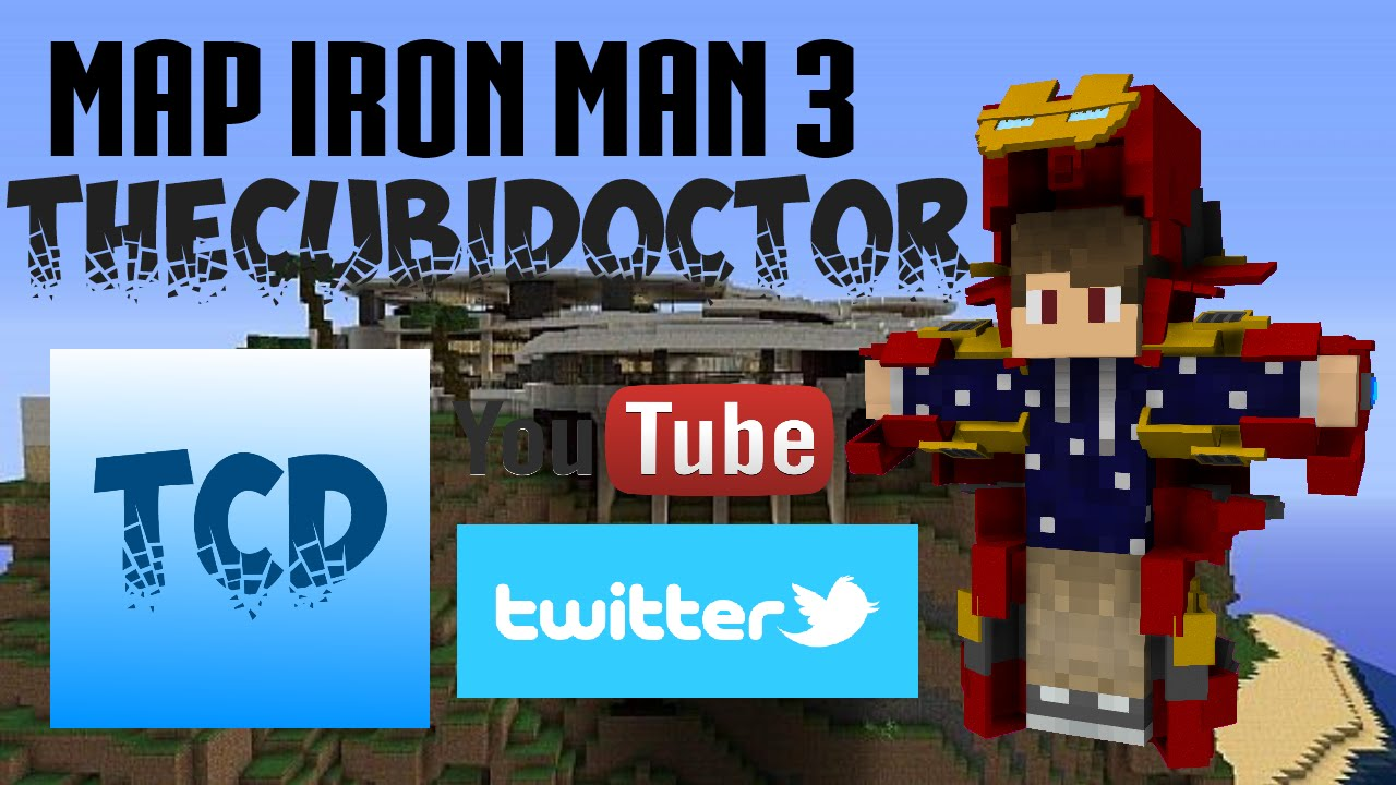 Map minecraft iron man maison jarvis youtube for Maison d iron man