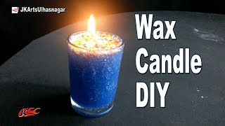 DIY How to Make Candle in a Small Glass at Home | JK Arts 1092