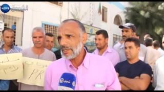 تيسمسيلت: عمال وحدة الجزائرية للمياه في وقفة احتجاجية