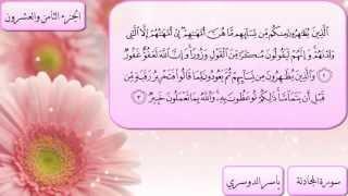 الجزء الثامن والعشرون كاملا بصوت الشيخ ياسر الدوسري