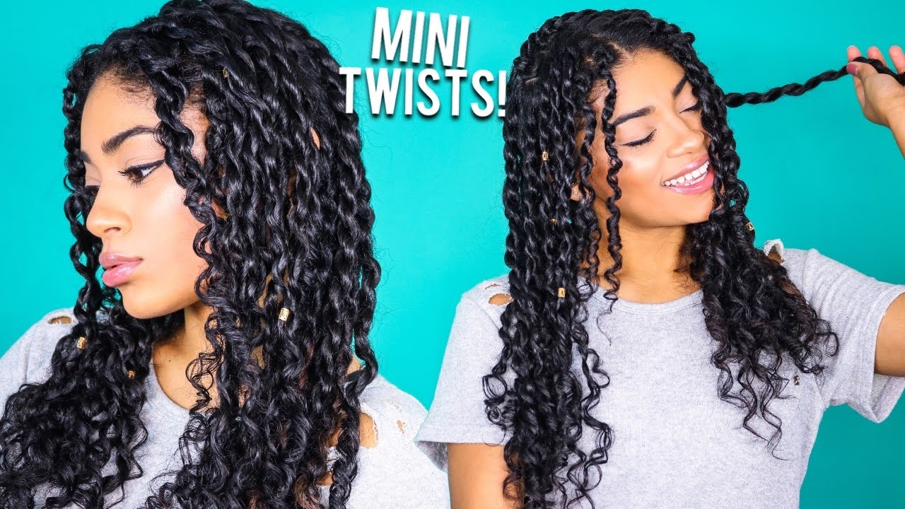 How To Mini Twists Curly Natural Hair Jasmeannnn Youtube