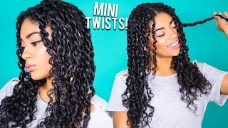 How To: Mini Twists - Curly Natural Hair | jasmeannnn