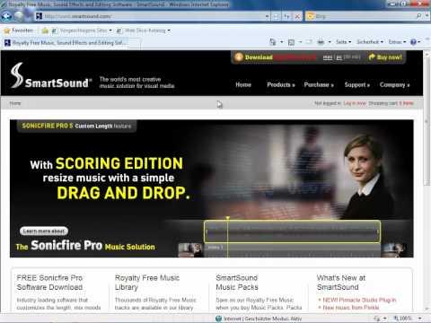 SmartSound Sonicfire Pro installieren Pinnacle Avid Studio