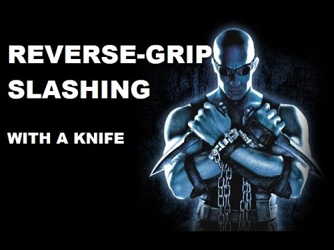 Reverse-grip knife and sword fighting in movies