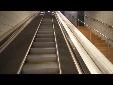 Sweden, Stockholm, Stuvsta train station, 1X automatic KONE elevator, 1X escalator