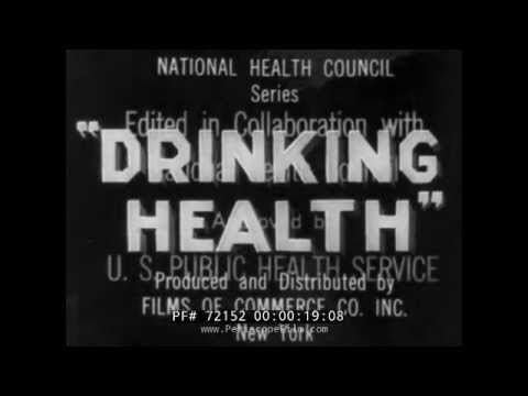 1920s CLEAN WATER / DRINKING WATER HEALTH FILM  72152