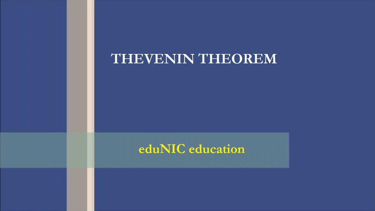Thevenin Theorem For Circuit Analysis Youtube Ac Equivalent With Current And Voltage Source