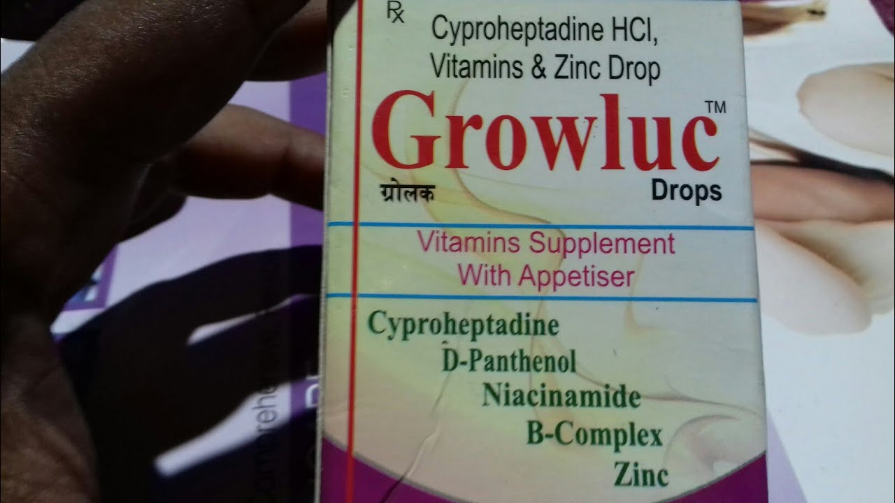Growluc Drops Vitamin Supplement Appetiser Use Full Hindi