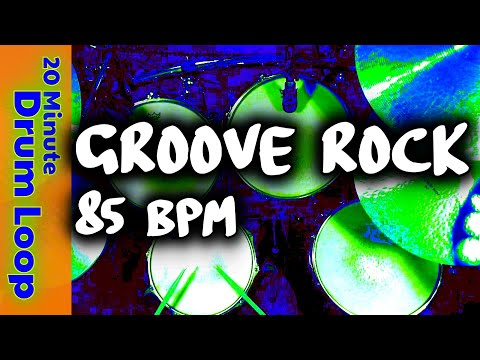 20 Minute Backing Track  Groove Rock 85 BPM