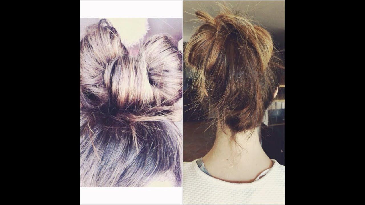 """Tuto coiffure n°1 : Chignon """" Messy Bun """" !  - YouTube"""