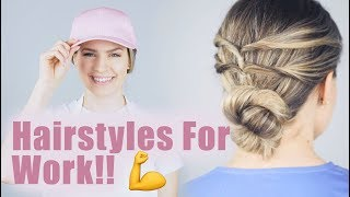 Totally Up Hairstyles For Work, Nurses, and Moms! - KayleyMelissa