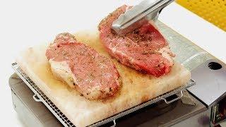厚さ2cmの岩塩プレートでステーキを焼いてみた thumbnail
