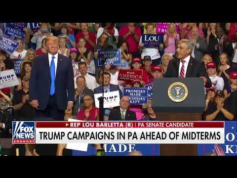 \'Sleepin\' Bob\': Trump Rips \'Worse Than Obstructionist\' Sen. Casey at PA Rally