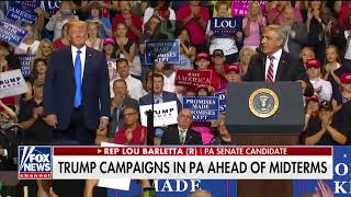 \'Sleepin\' Bob\': Trump Rips \'Worse Than Obstructionist\' Sen. Casey at PA Rally