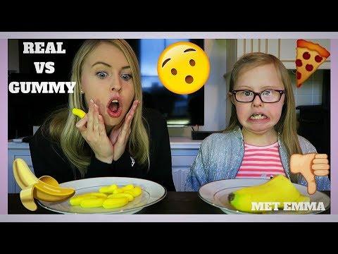 GUMMY FOOD VS. REAL FOOD Met Emma