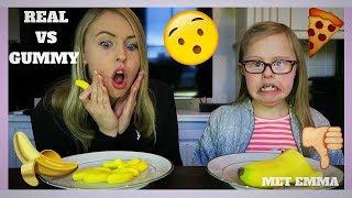 GUMMY FOOD VS. REAL FOOD Met Mijn Zusje Emma