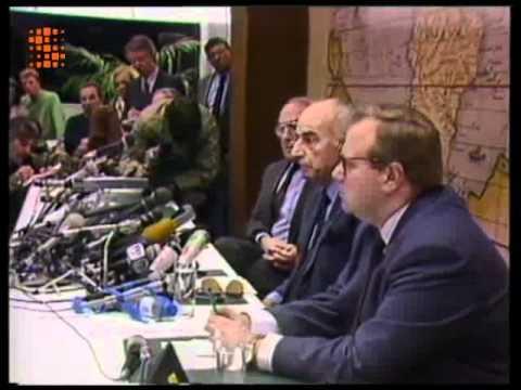 La conférence de presse de Paul Vanden Boeynants (JT15-02-1989)