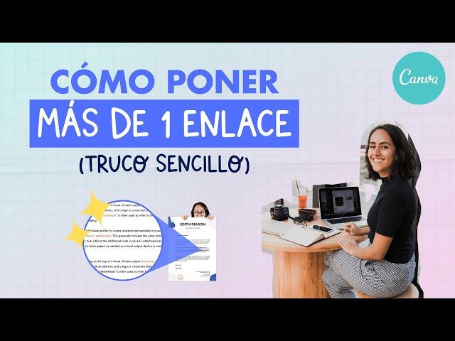 Cómo aplicar más de 1 enlace a la misma caja de texto en Canva | Aprende con Diana Muñoz