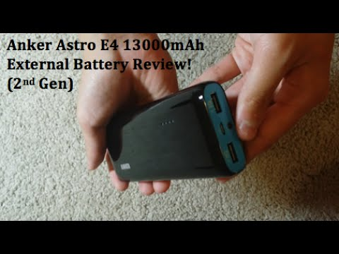 Review: Anker Astro E4 13000mAh External Battery! (2nd Gen)