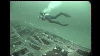 Diving on Nazi submarine U-251