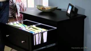 Belham Living Hampton Two Drawer Lateral Filing Cabinet - Black