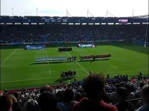 Namibië se volkslied weerklink in die Leicester sokkerstadion.