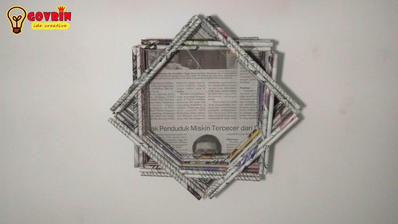 Dekorasi Kamar Dengan Hiasan Dinding Bentuk Bintang Dari Koran Bekas Diy Home Decor Youtube Hiasan dinding dari koran bekas