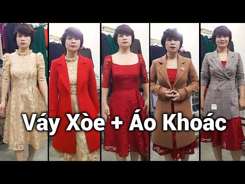 Mix đồ Váy Xòe Với Áo Khoác Vest Nữ | Bí Quyết Mặc đẹp Thời Trang Thủy