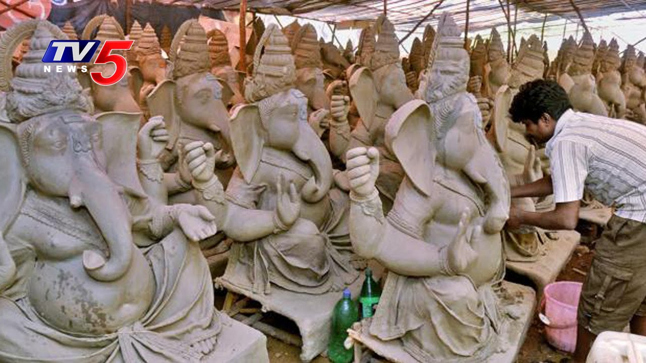 eco friendly clay ganesh idols in jambagh,koti | hyderabad | telugu
