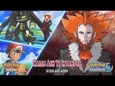 Pokemon Sun and Moon: Kalos Ash Vs Lysandre (Vs Team Flare Boss)
