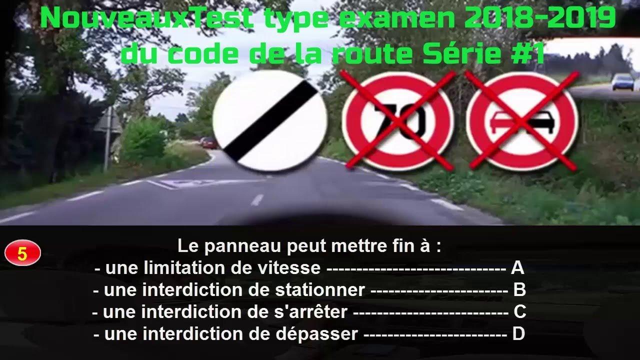 nouveauxtest type examen   du code de la route