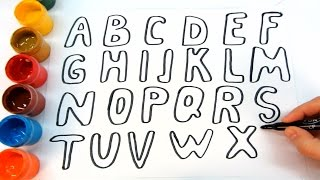 How to Draw abcdefghijklmnopqrstuvwxyz - Learn ABC Song For Kids - learn alphabet for kids